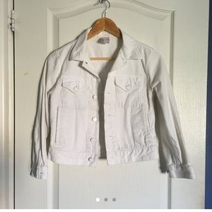 American Apparel White Denim Jacket